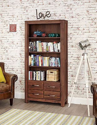 Baumhaus Solid Wood Walnut Large Bookcase