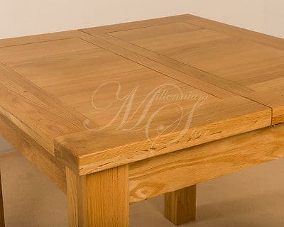 Devon Solid Wood Chunky Oak Square Small Extending Dining