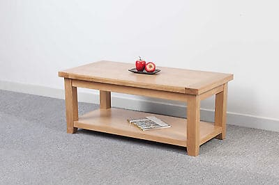 Bristol Solid Wood Chunky Oak Large Coffee Table
