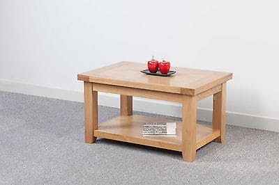 Bristol Solid Wood Chunky Oak Small Coffee Table