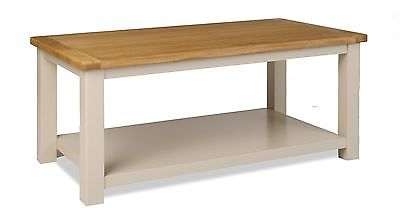 Melton Stone Colour Painted Oak Large Coffee Table With