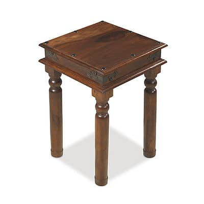 Madras Solid Sheesham Wood Lamp Side Telephone Table Stand Unit