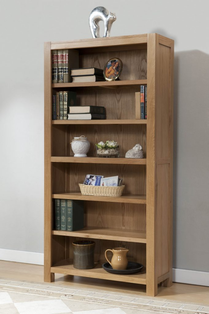 Brampton Solid Wood Chunky Oak Large Bookcase