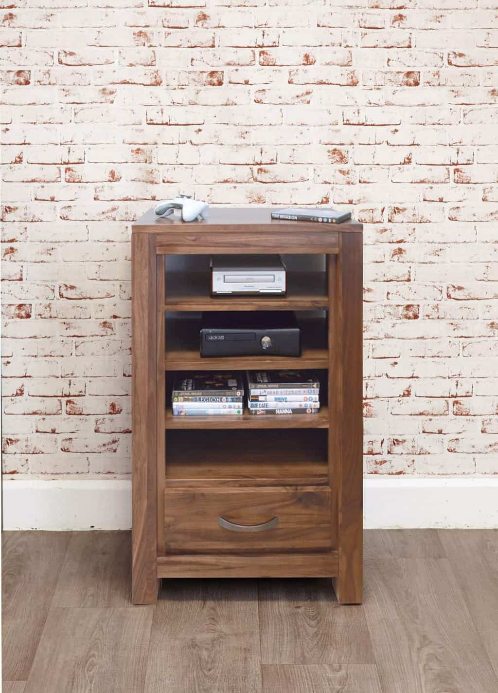 Solid Wood Walnut Entertainment Video Cabinet Msl Furniture