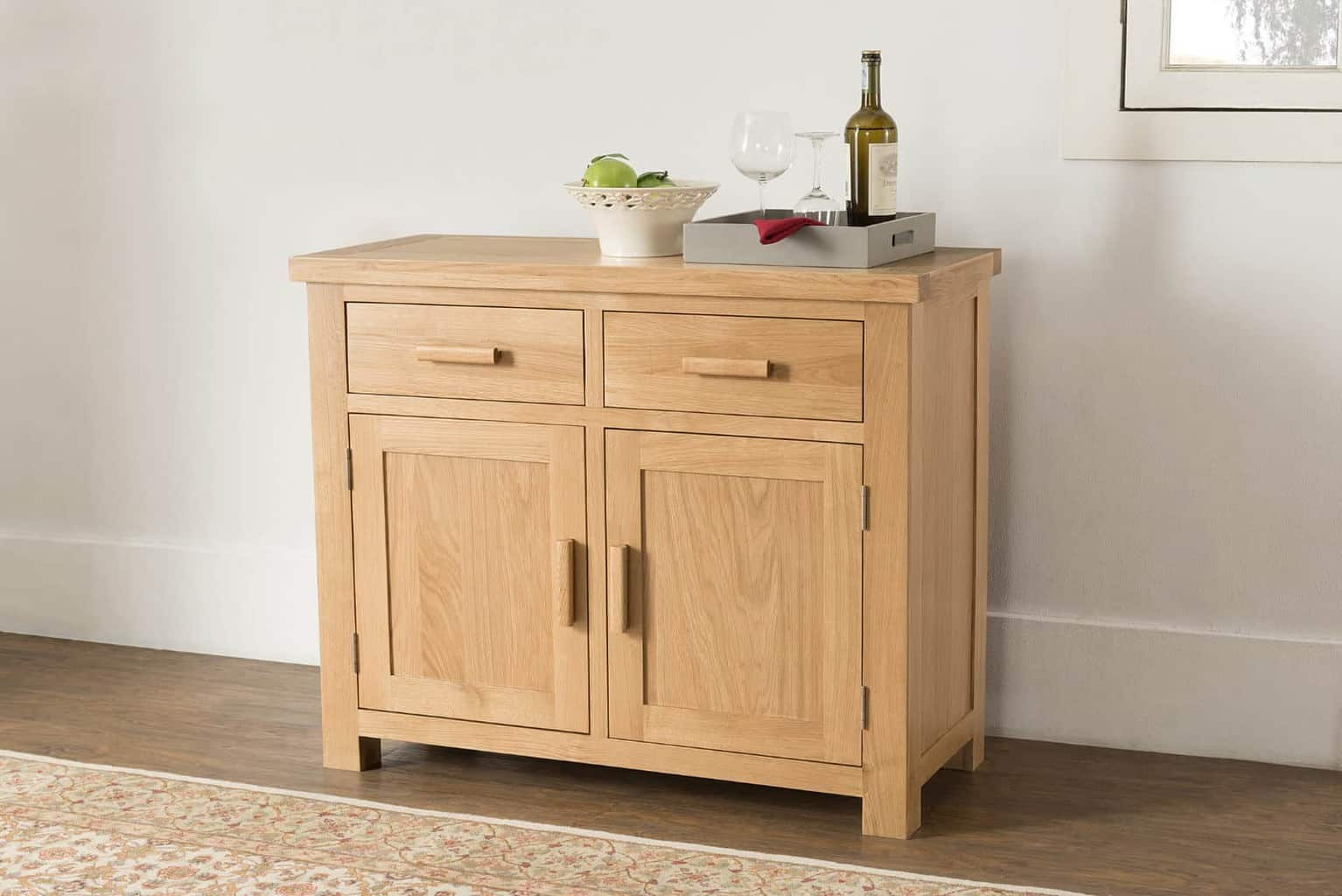 Valencia Solid Wood Chunky Oak Small Medium Sideboard Cupboard Cabinet Msl Furniture