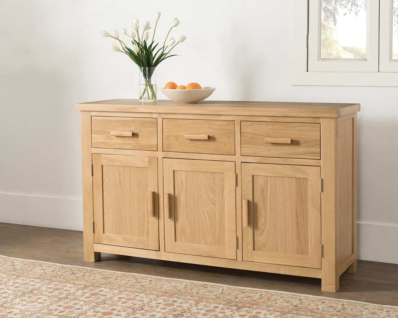 Valencia Solid Wood Chunky Oak Large Sideboard Cupboard Cabinet Msl Furniture