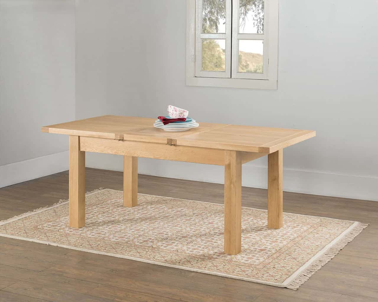Valencia Solid Wood Chunky Oak Large Butterfly Extending Dining Table Msl Furniture