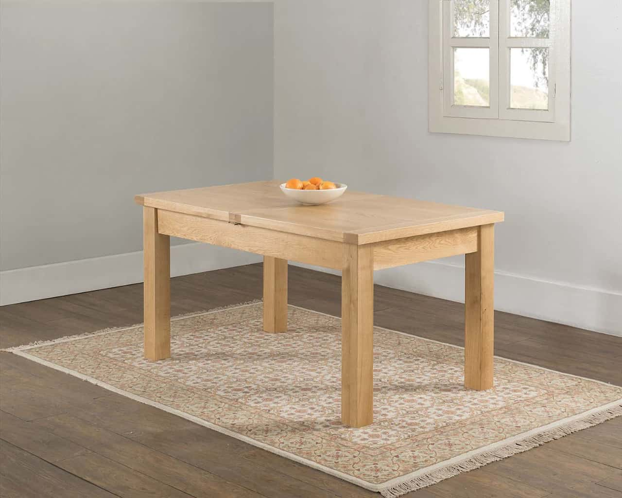 VALENCIA SOLID WOOD CHUNKY OAK LARGE BUTTERFLY EXTENDING
