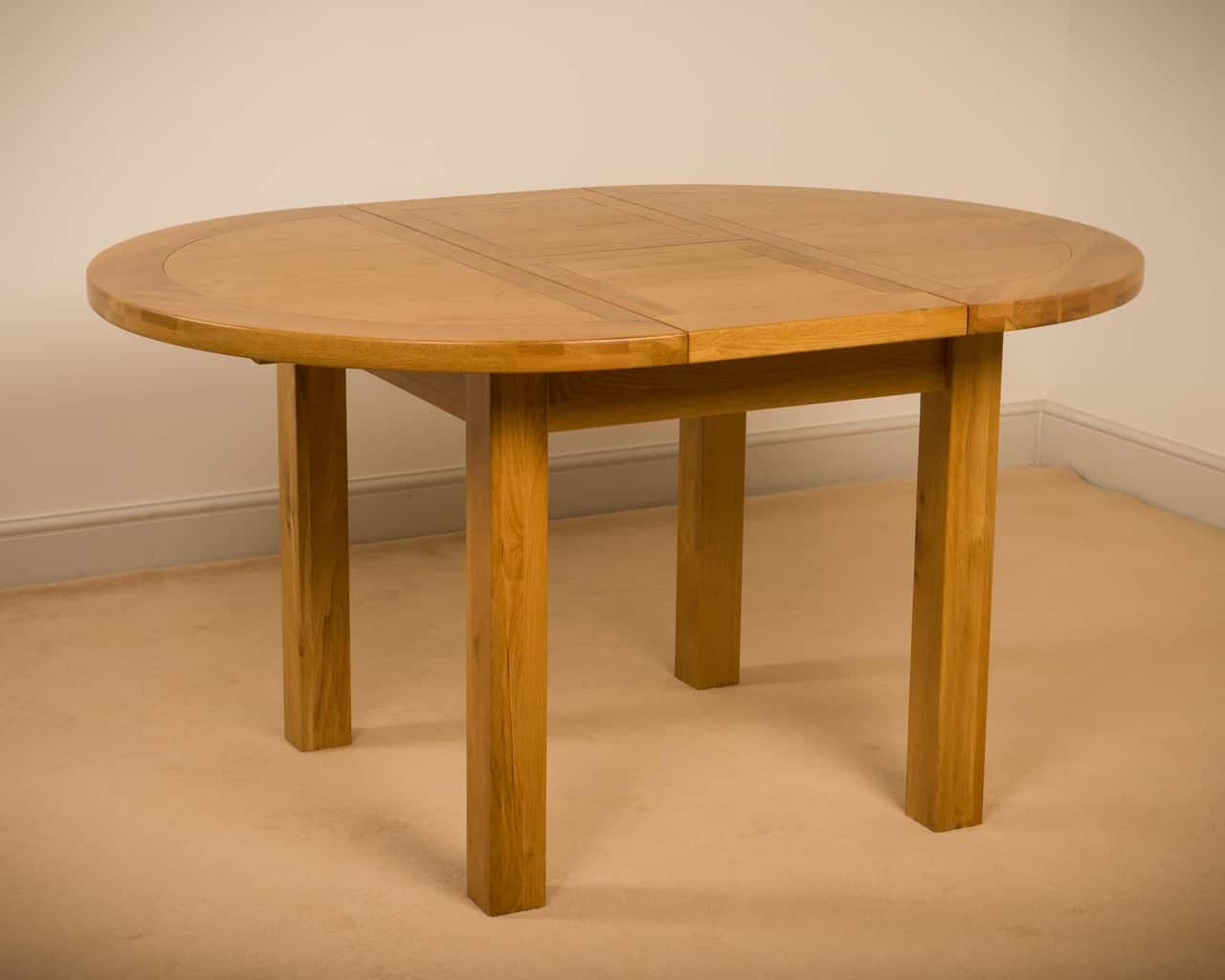 Msl Solid Wood Chunky Oak Round Extending Dining Table Msl Furniture