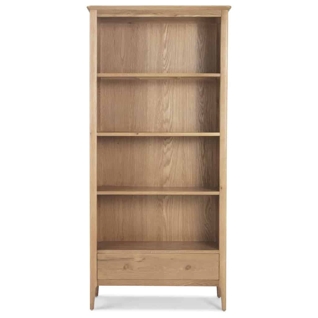 Sydney contemporary solid wood oak large bookcase display