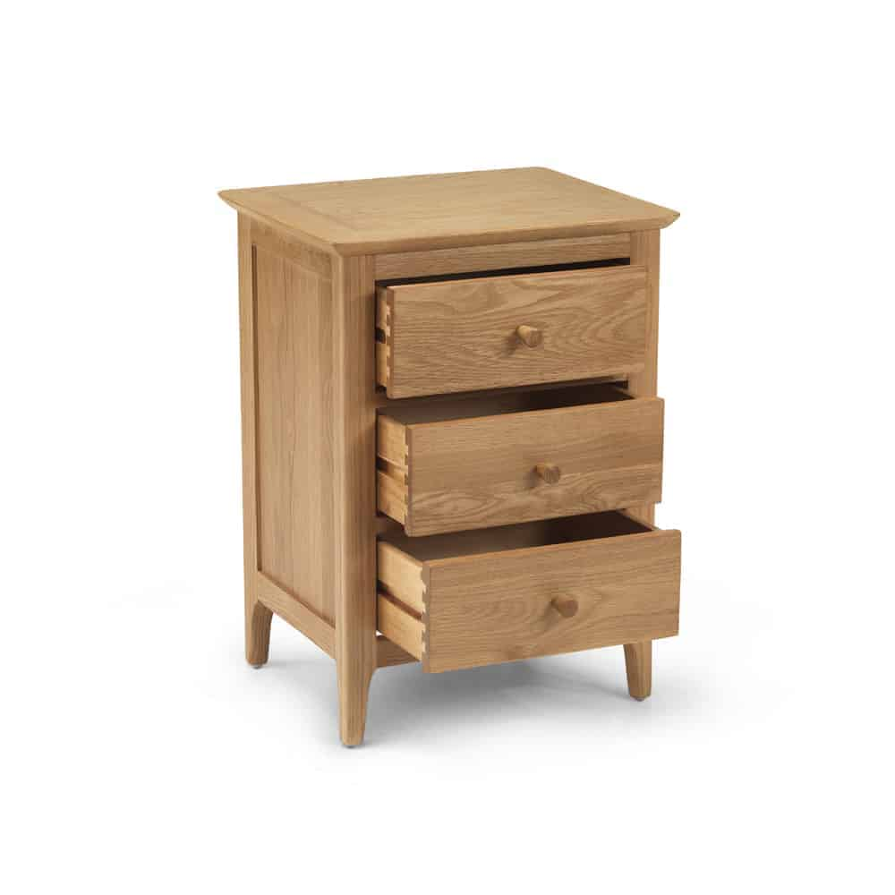 Sydney Contemporary Solid Wood Oak Small Compact Bedside