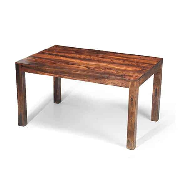 Cuba Solid Sheesham Chunky Wood Large Fixed Dining Table
