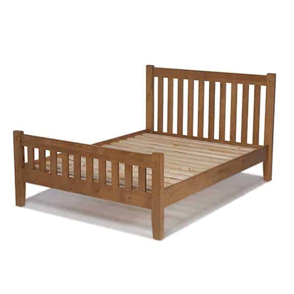 Aylesbury Solid Wood Rustic Oak 4ft 6inch Double Size Bed