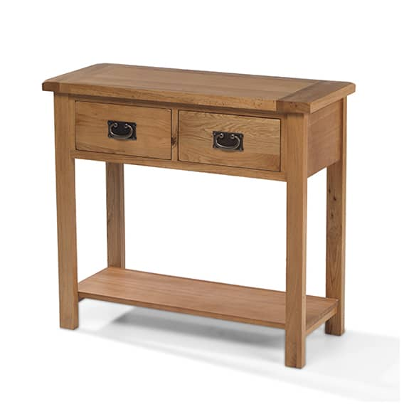 Aylesbury Rustic Solid Oak Console Table