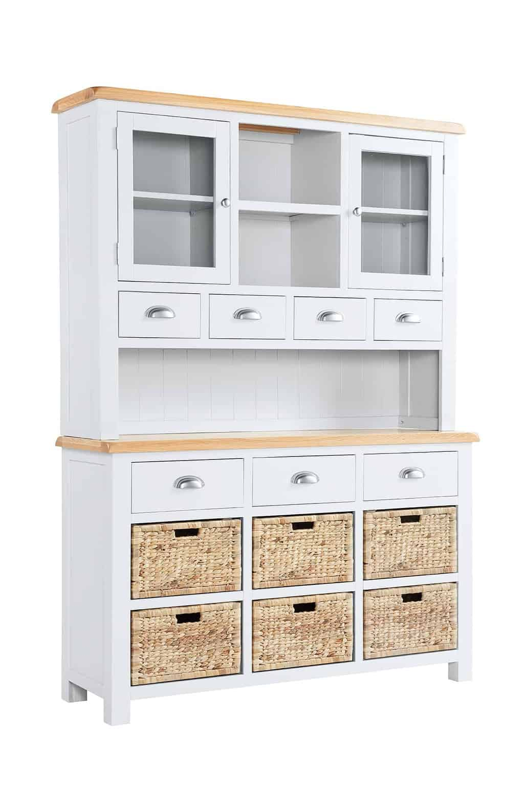 drawers dresser wicker bedroom cabinet chest itm furniture storage wood w with baskets