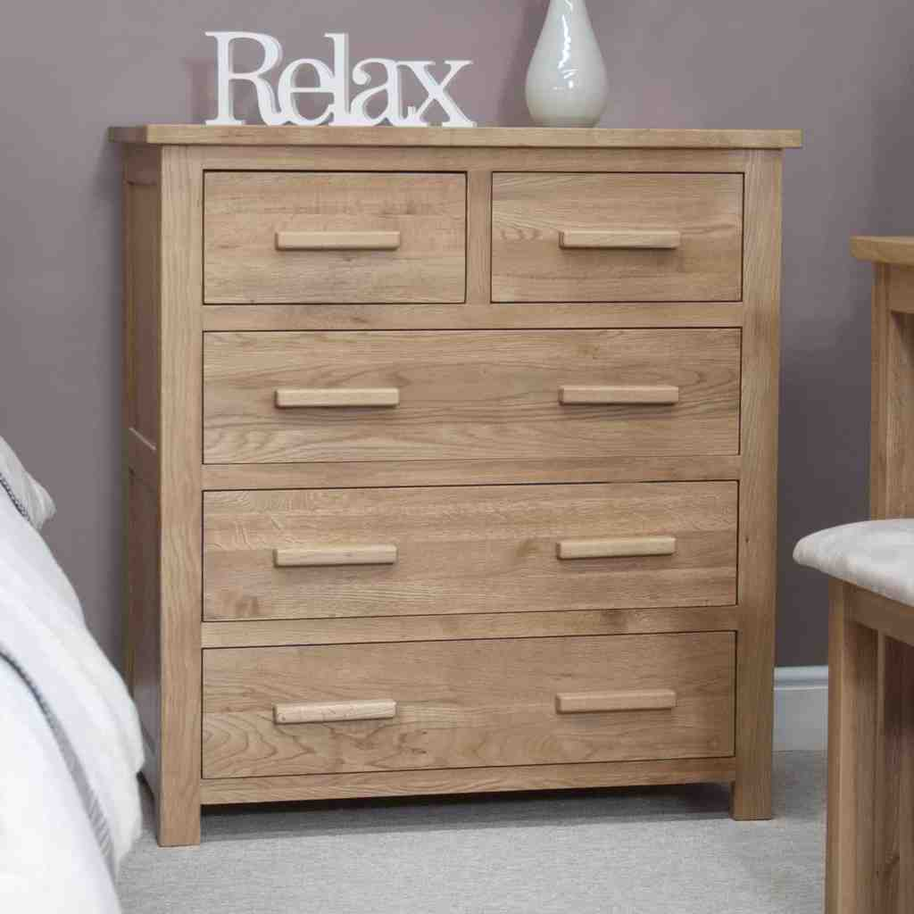 Dining Room Chest Of Drawers: Opus Contemporary Oak 2 Over 3 Chest Of Drawer