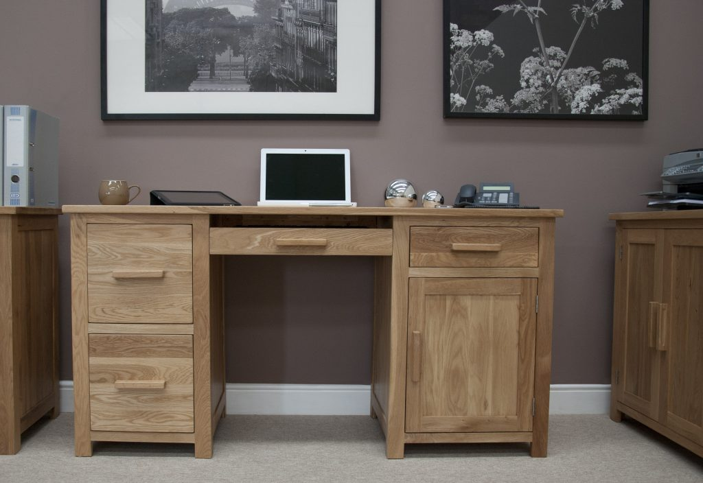 Homestyle Gb Opus Contemporary Oak Wide Large Home Office Desk