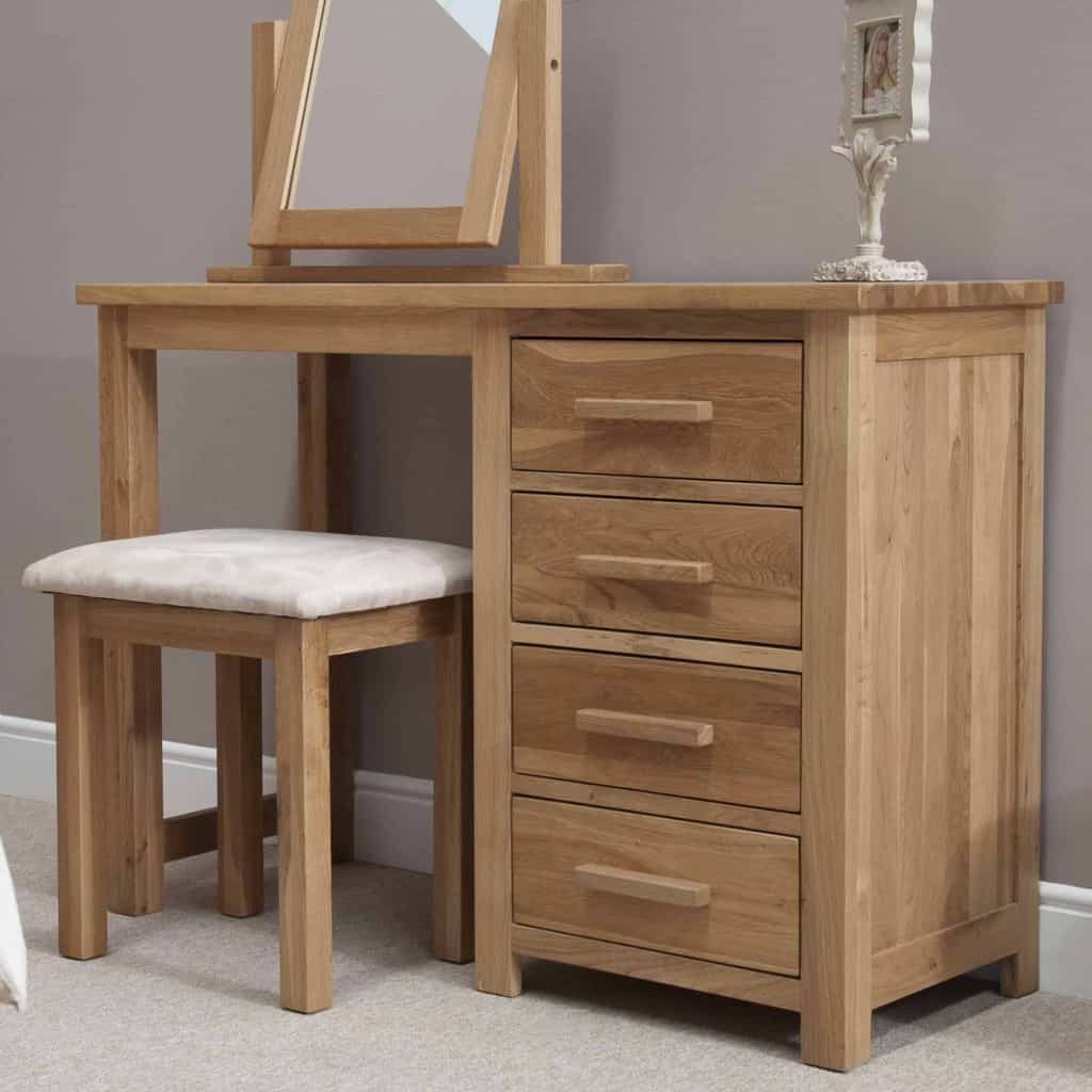 Homestyle Gb Opus Contemporary Oak Dressing Table And ...