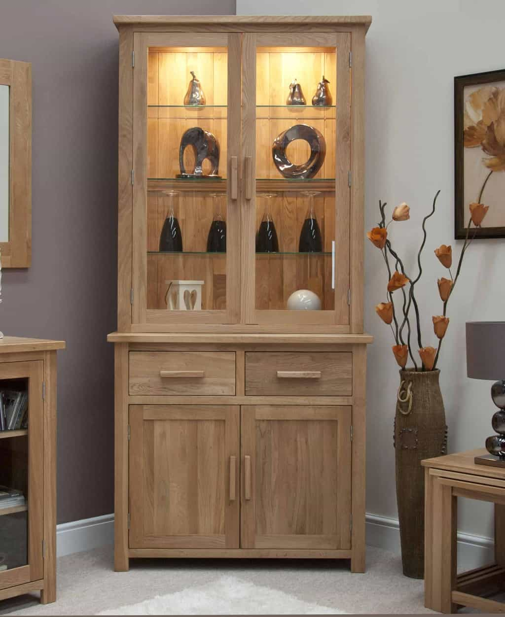 Dining Room Cabinets Ideas: Opus Contemporary Oak Small Dresser Display Cabinet