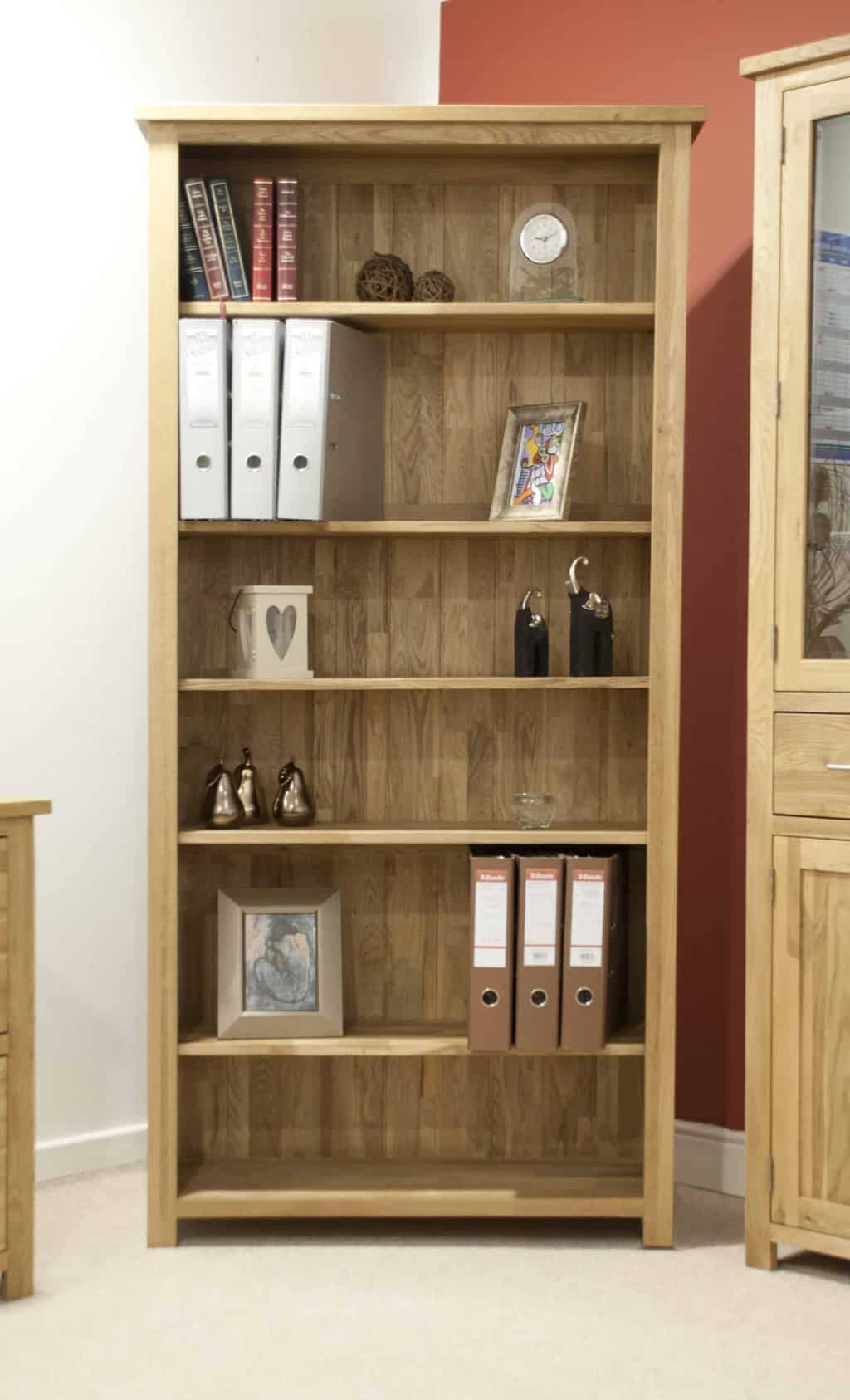 Opus Contemporary Oak Open Large Home Office Bookcase