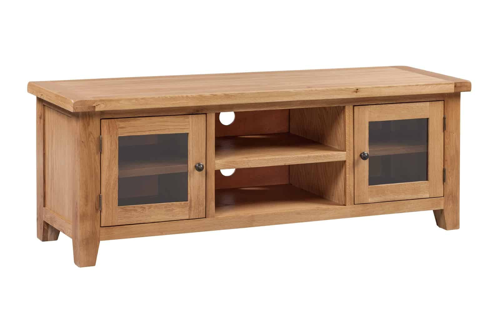 Shrewsbury Solid Chunky Wood Rustic Oak Extra Large TV LCD