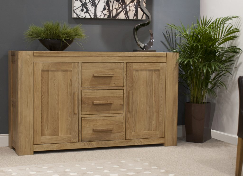 Homestyle Gb Trend Solid Chunky Oak Large Sideboard