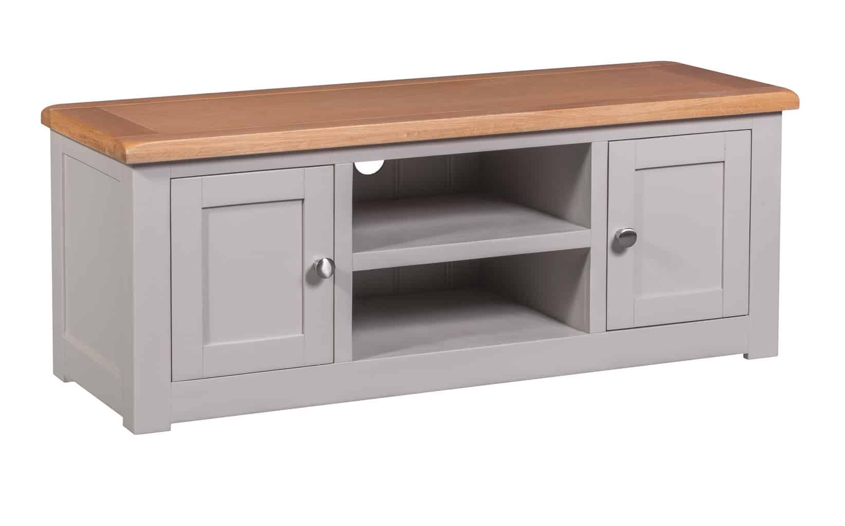 Homestyle gb diamond grey painted oak large lcd plasma tv cabinet stand msl furniture M s home furniture uk