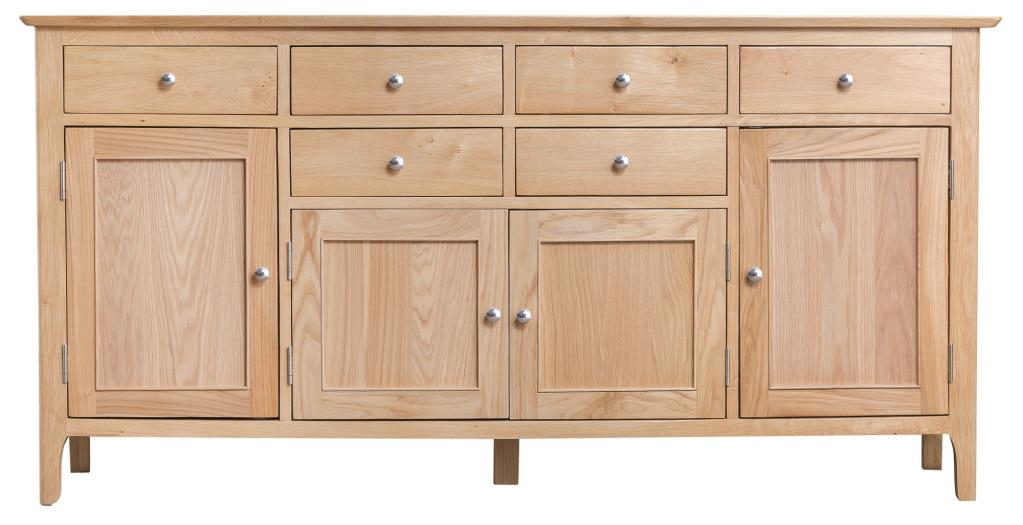 Newton Contemporary Oak Extra Large Sideboard Cupboard