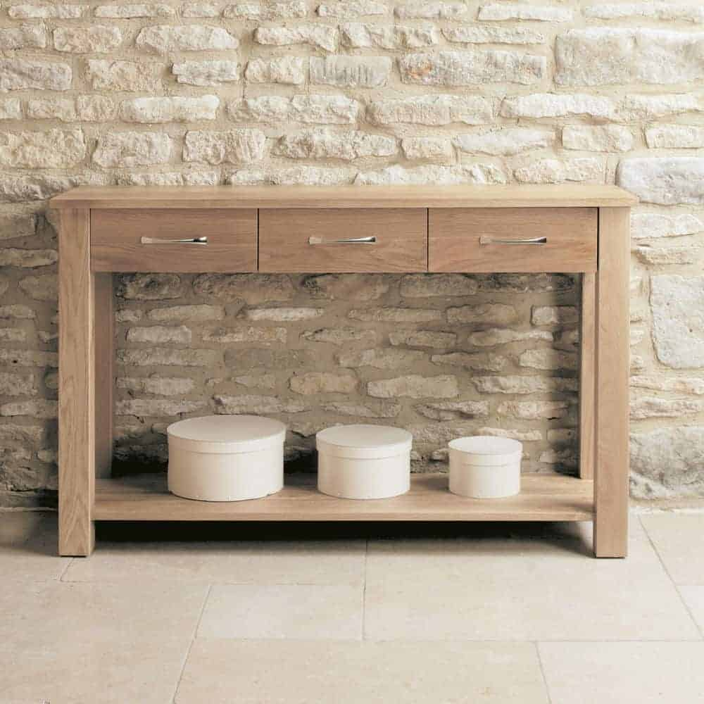 Baumhaus Mobel  Solid  Oak Telephone Hall Console Table