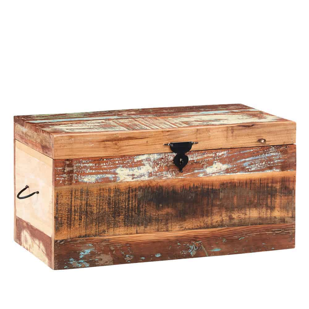 Coast Industrial Reclaimed Solid Wood Box Chest Storage Trunk Unit