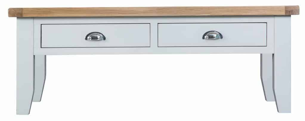 Norfolk White Painted Chunky Oak Large Coffee Table