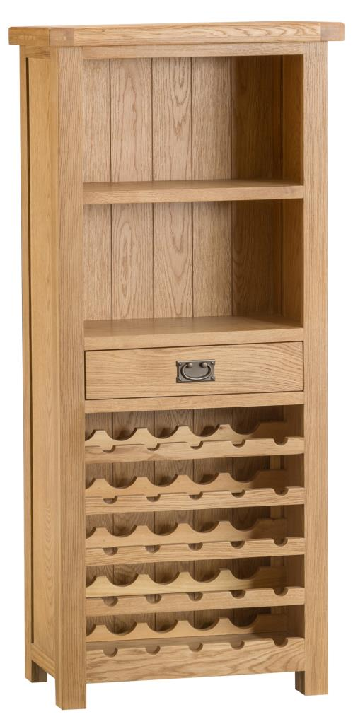 Banbury Solid Chunky Wood Rustic Oak Wine Rack Display Cabinet & Banbury Solid Chunky Wood Rustic Oak Wine Rack Display Cabinet | MSL ...