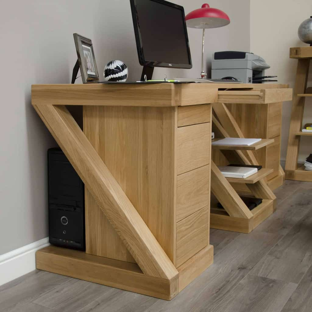 Homestyle Gb Z Designer Oak Large Home Office Computer