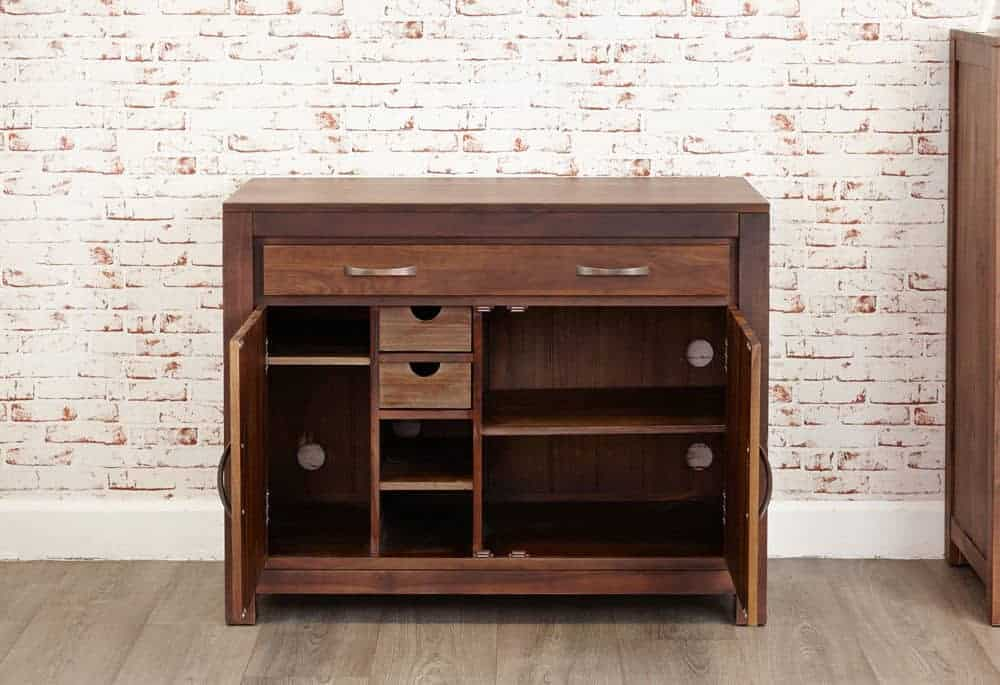 Baumhaus Solid Wood Walnut Hidden Home Office Computer Desk