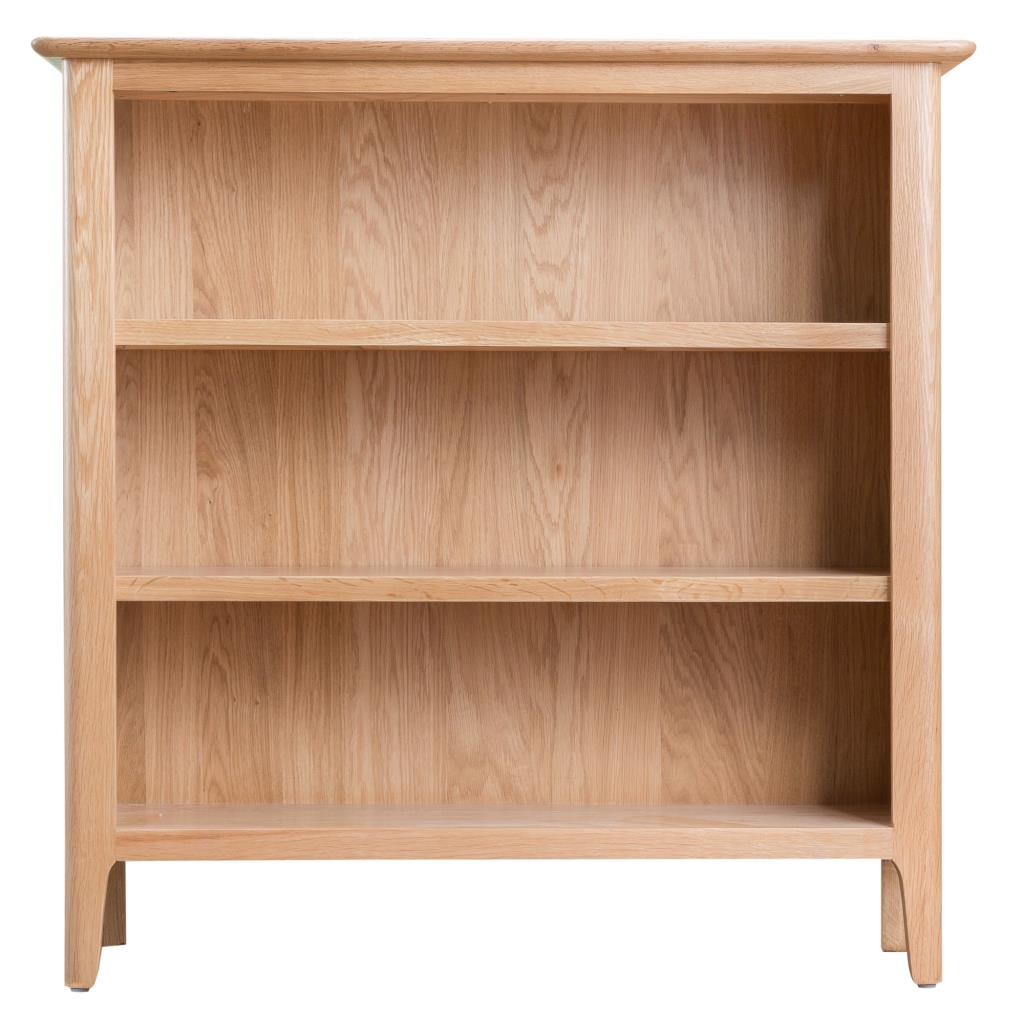 Newton Contemporary Oak Low Small Bookcase Display Unit