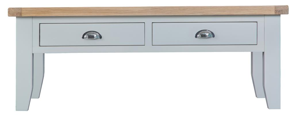 Berkshire Grey Painted Chunky Oak Large Coffee Table