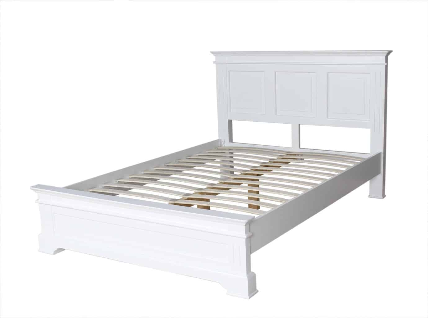 Bedford White Painted Solid Pine 4ft 6inch Double Size Bed