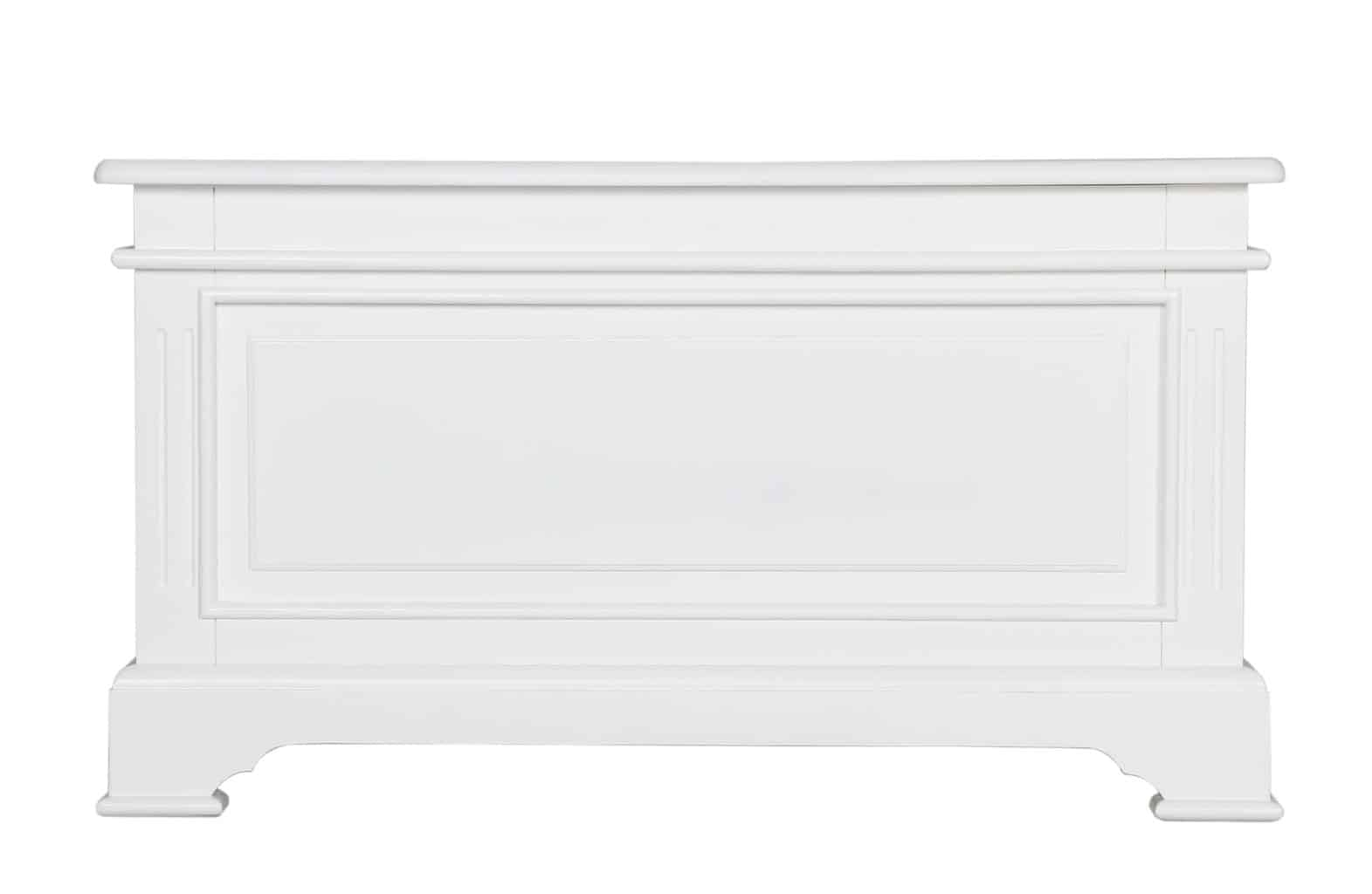 Bedford White Painted Solid Pine Blanket Box Storage Trunk Unit
