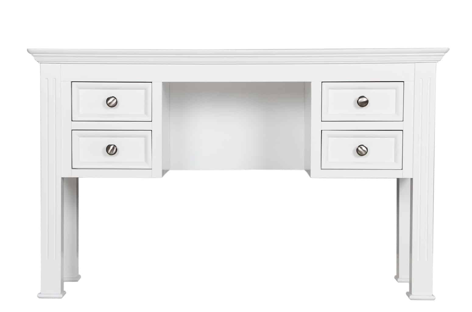 Bedford White Painted Solid Pine Dressing Table With 4 Drawers