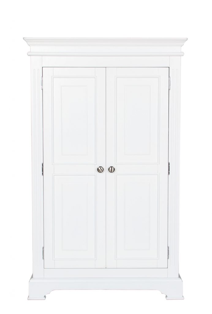 Bedford White Painted Solid Pine Full Hanging Wardrobe