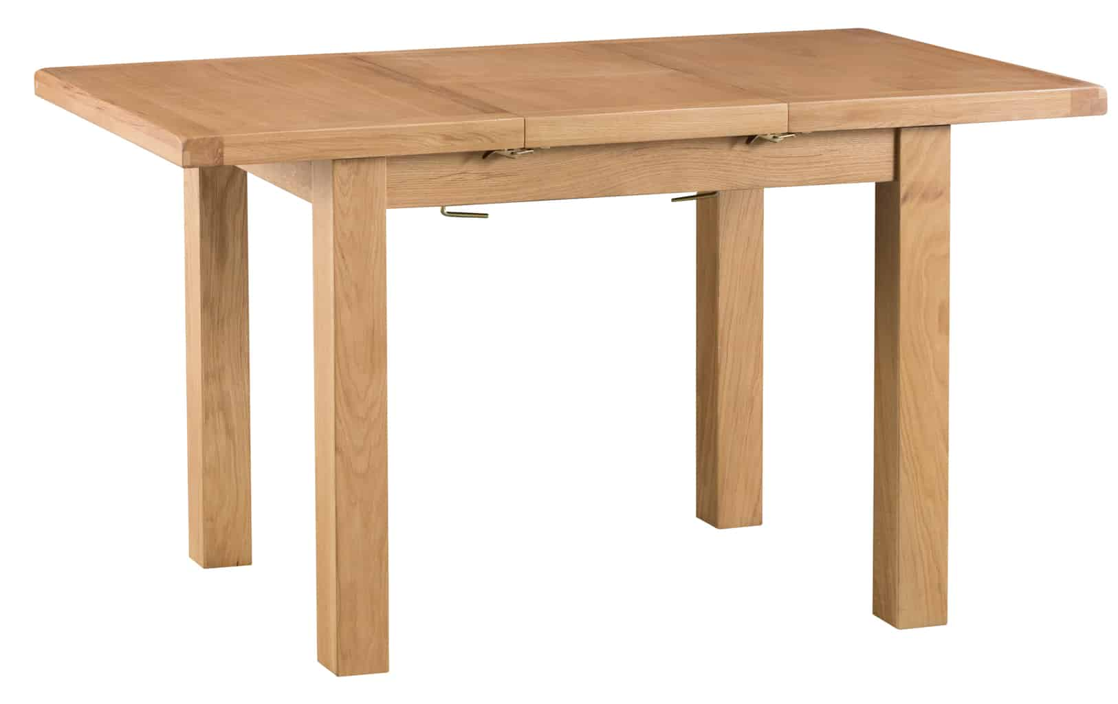 Banbury Solid Chunky Wood Rustic Oak Small Narrow Extending Dining Table