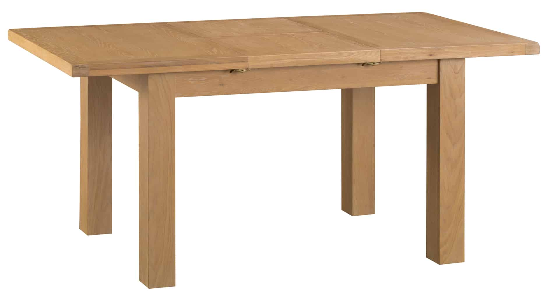 Banbury Solid Chunky Wood Rustic Oak Small Extending Dining Table