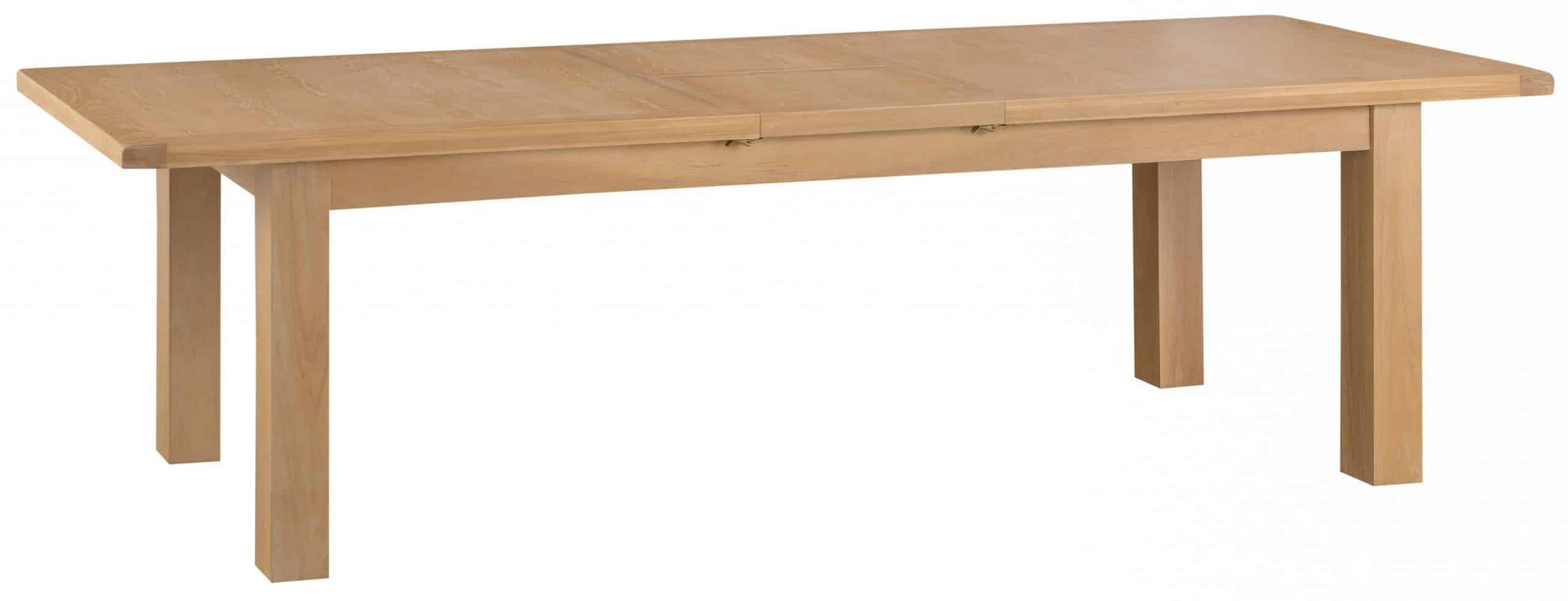 Banbury Solid Chunky Wood Rustic Oak Extra Large Extending Dining Table
