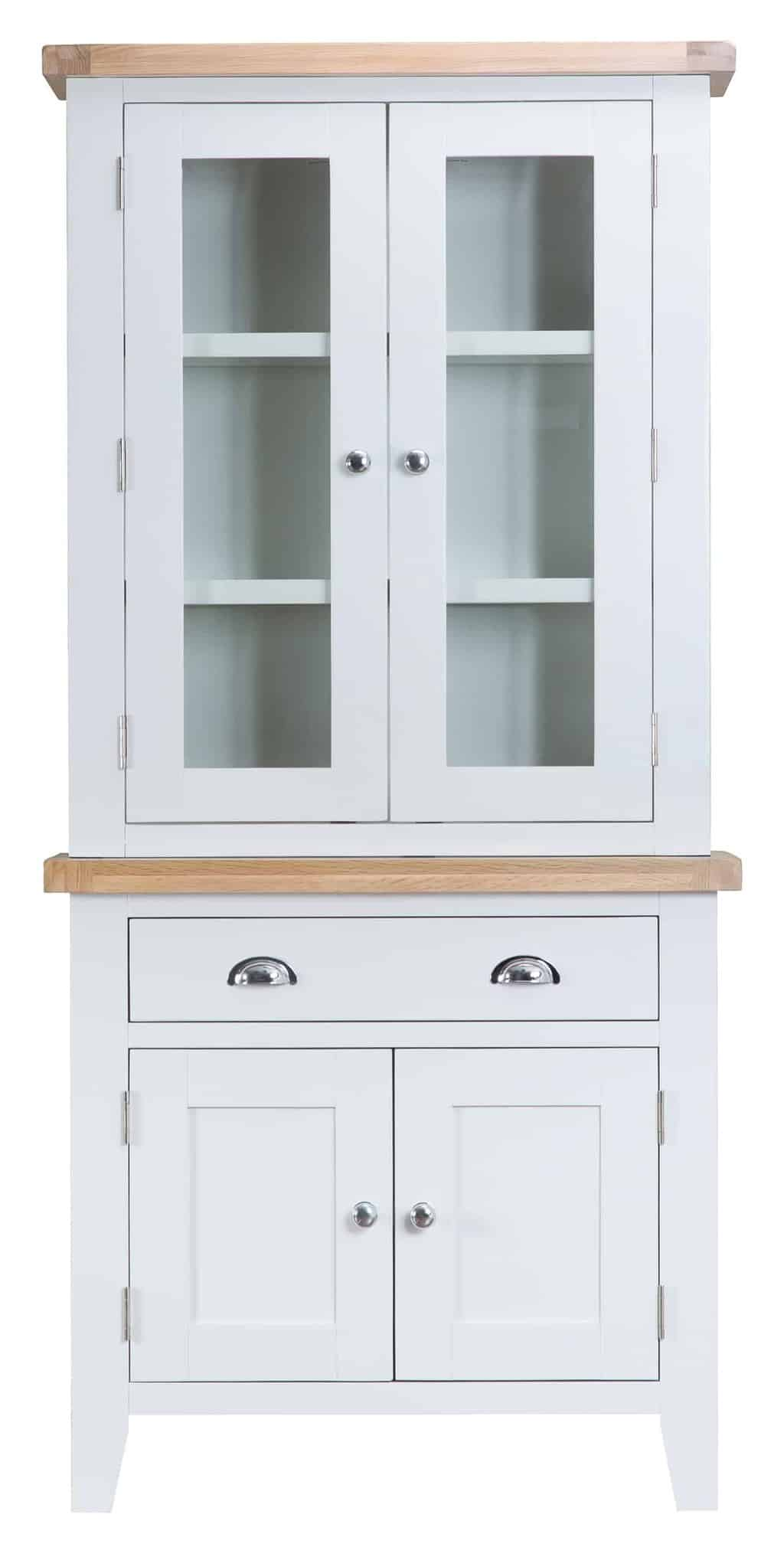 Norfolk White Painted Chunky Oak Small Dresser Display
