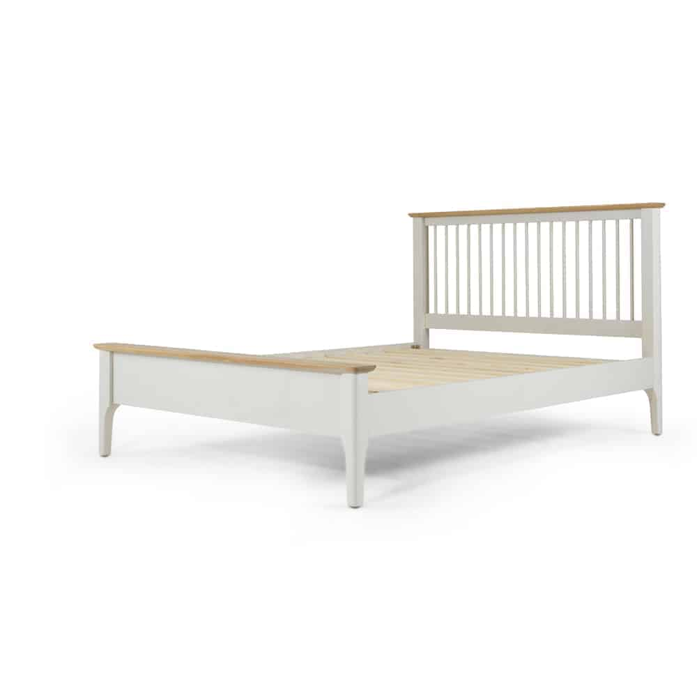 Brompton Grey Painted Oak 4ft 6inch Double Size Bed