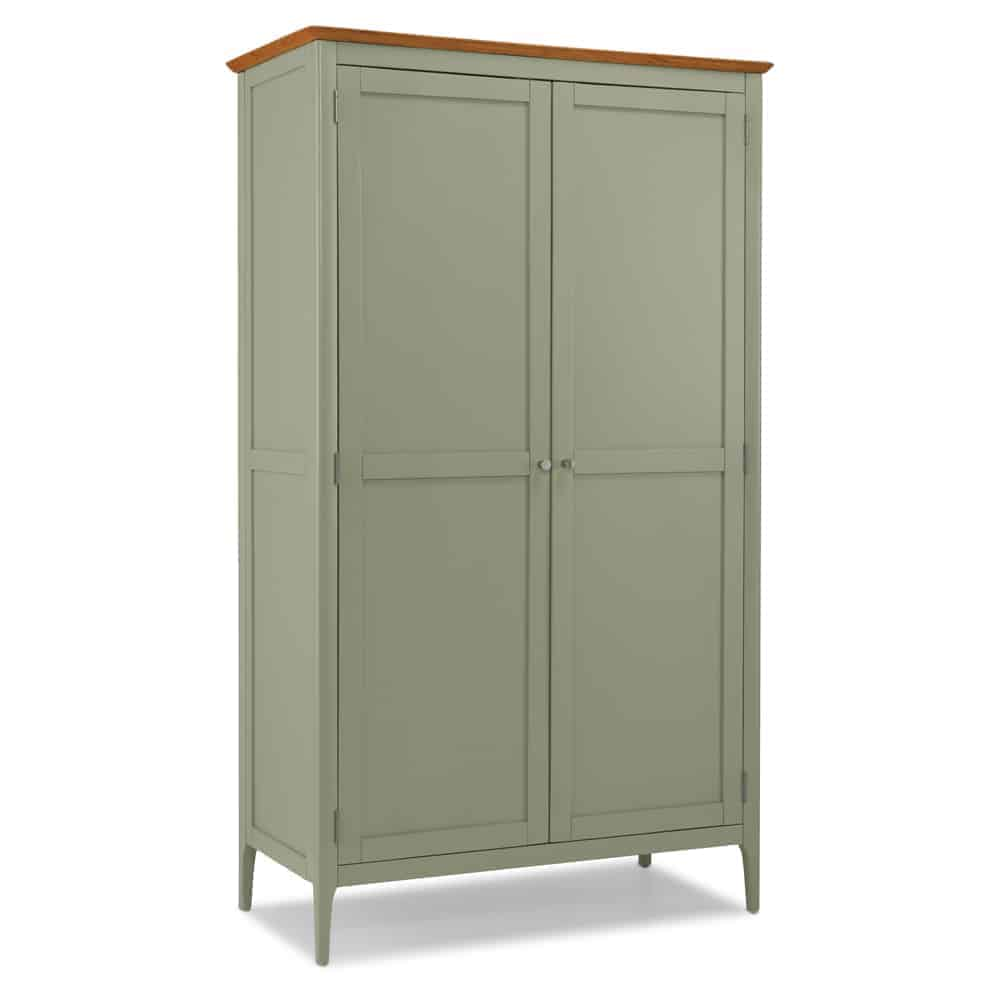 Merton Sage Green Painted Solid Oak Double Full Hanging