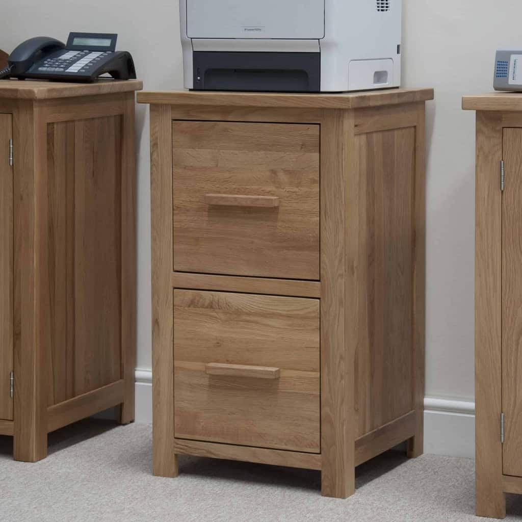 Homestyle Gb Opus Contemporary Oak Filing Cabinet