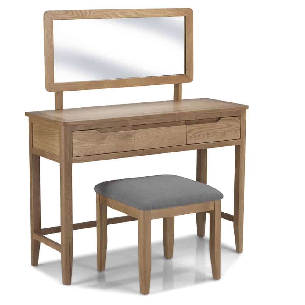 Contemporary solid wood oak dressing table set melbourne for Dining table dressing