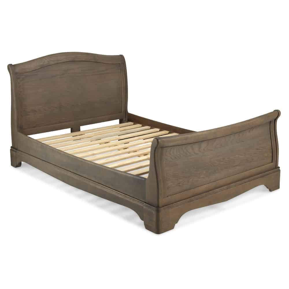 Boston Solid Chunky Medium Oak 4ft 6inch Double Size Bed