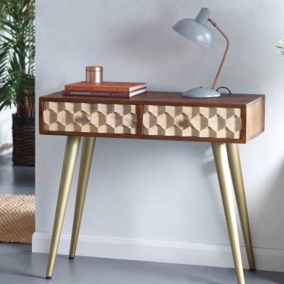 Alaska Solid Wood Large Console Table